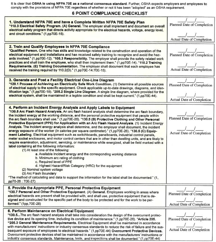 6 Point Compliance Checklist