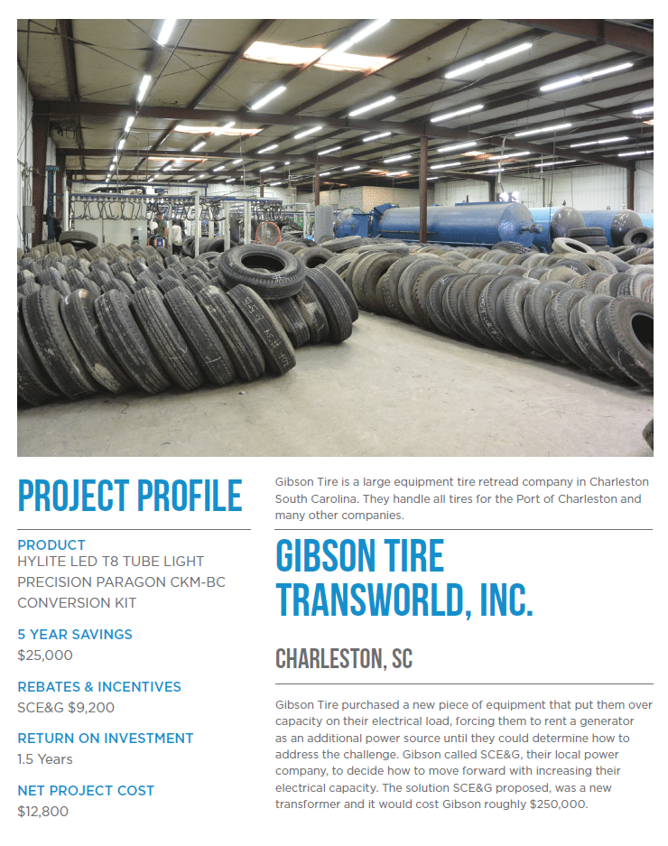 Project profile on Gibson Tire and the power solution we provided for them.