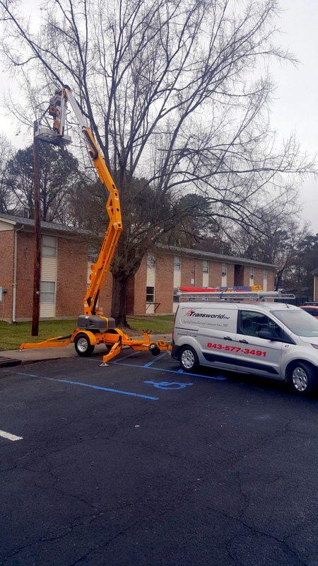 Pole lighting Repairs Electrical Contractor Charleston South Carolina