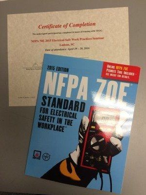 Transworld, Inc. Electrical Contractors NFPA 70E Electrical Safe work practice training seminar in Charleston SC