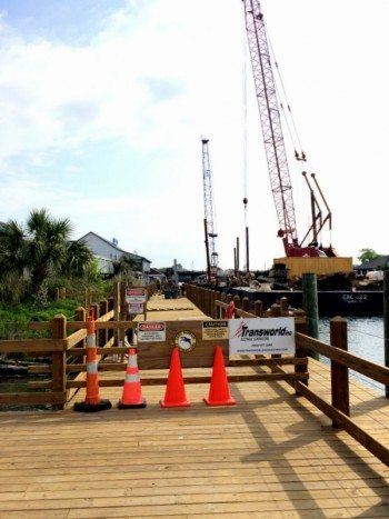 Transworld Inc electrical Contractors Shem Creek Dock Revitalization in Mount Pleasant South Carolina