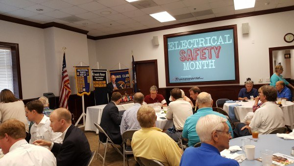 Club Charleston South Carolina Electrical Safety Month Presentation by Transworld
