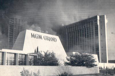 The MGM Grand hotel view from the corner of the Las Vegas Blvd. and Flamingo Road