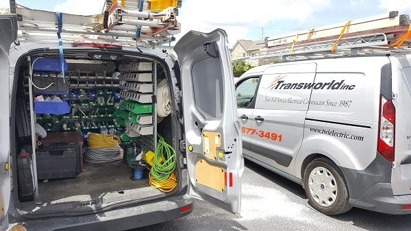 Transworld, Inc. Electrical Contractors Service Fully Stocked Electrician Service Truck