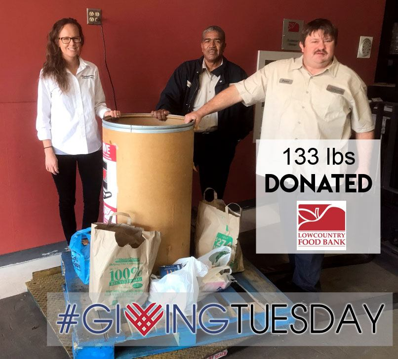 Transworld inc electrical contractors can-food-drive