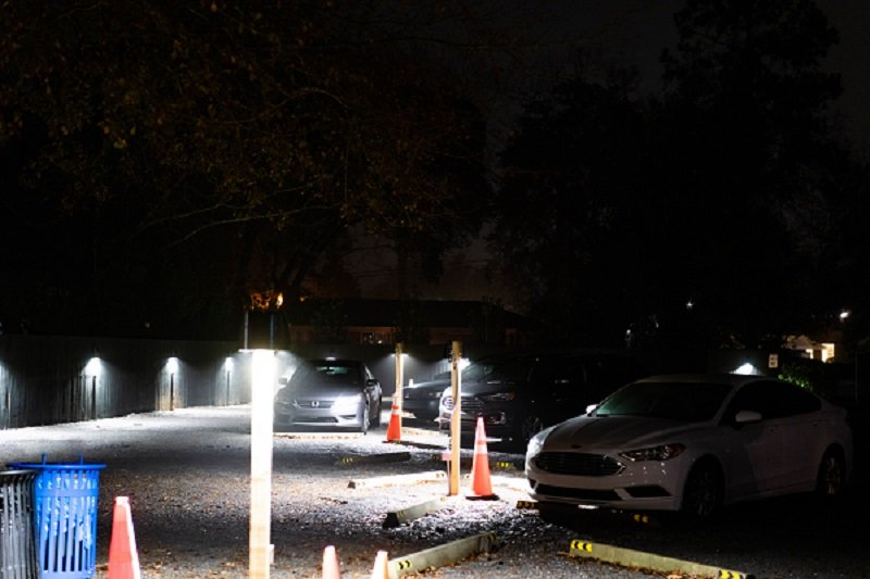 Charleston Electric - Parking light LED installation