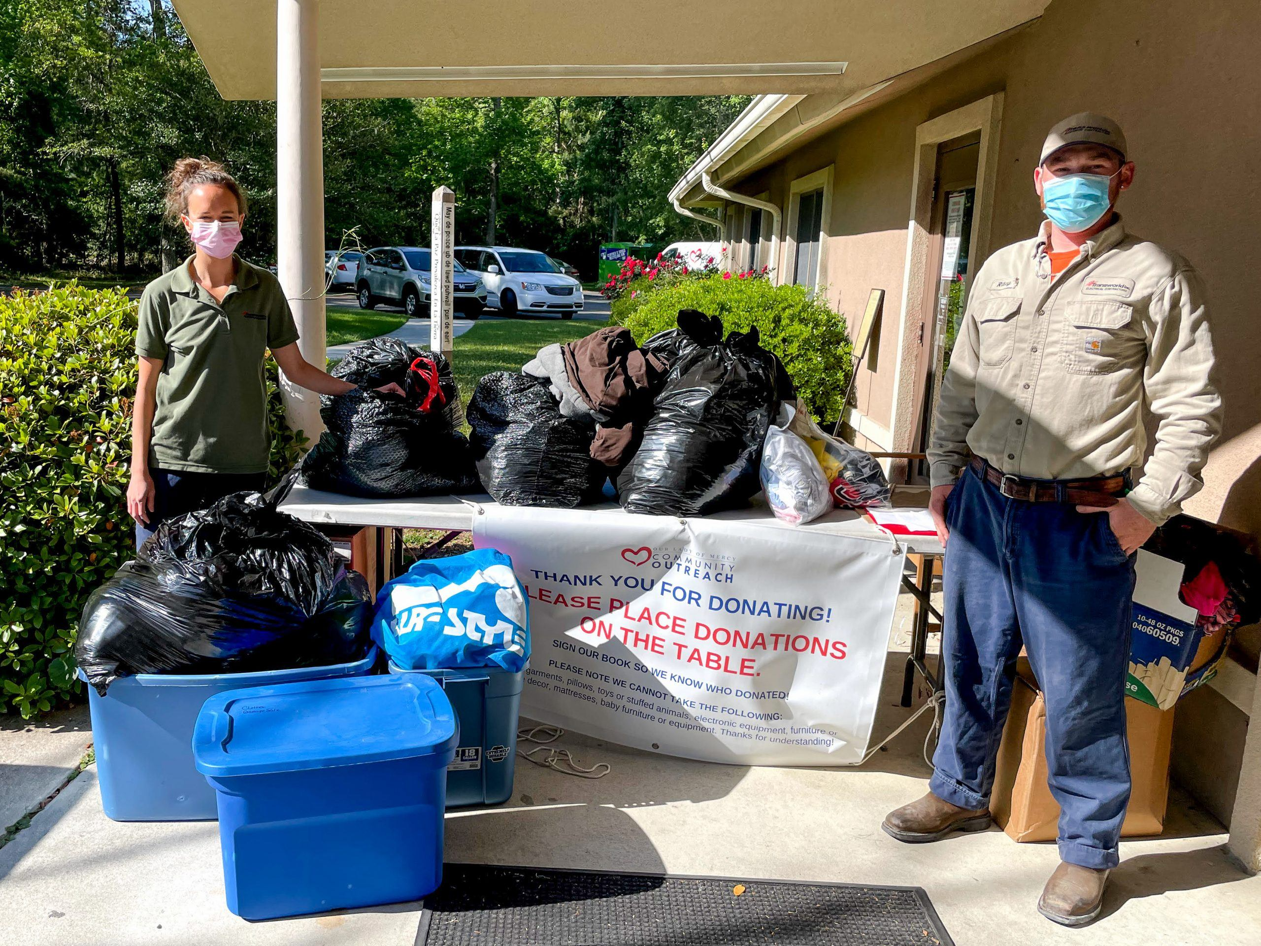 Charleston Electrical Contractors - Spring Clothing Drive